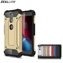 ZEALLION For Motorola G3 G4 G5 Plus E3 M Z G4 Play Z Force Case New Luxury Steel Hybrid Soft TPU + Hard PC Silicone Back Cover(China)