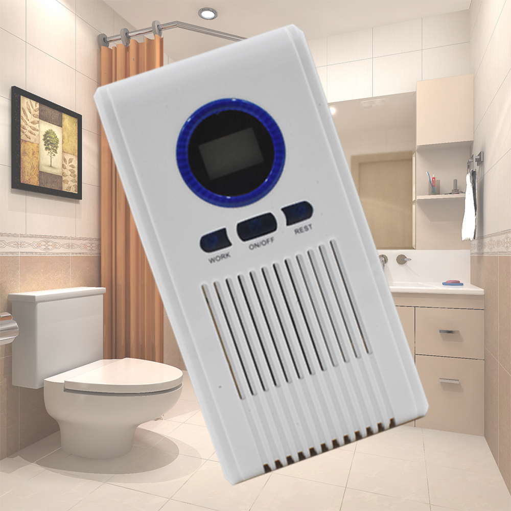 Ozone Generator Air Purifier Toilet Disinfectant Machine Air Cleaner For  Bathroom Shoe Racks With LED Display Timing Function