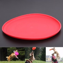 Silicone Dogs Toys Pet Flying Disc Tooth Resistant Outdoor Playing Frisbee Toy for Large Puppy Dog Training Fetch Toy