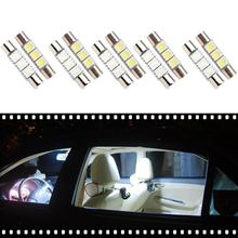 Durable Low Power Consumption 10Pcs Car T6 29mm 5050 3smd Reading Lights Interior Festoon LED Bulbs Car Styling Accessories