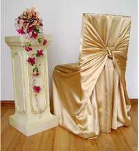 100 pcs free shipping White Stain Banquet Chair Cover Wedding Chair Cover Stain Chair Cover(China)