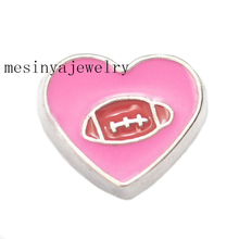 10pcs love American football  floating  charms  for  glass  locket,FC-978.Min amount $15 per order mixed items