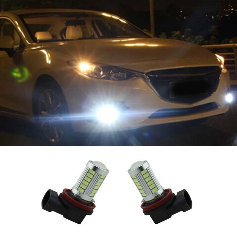 2pcs H11 H8 CREE Chip LED Projector Fog Light For BMW Mitsubishi Mazda Citroen Toyota Car styling<br><br>Aliexpress