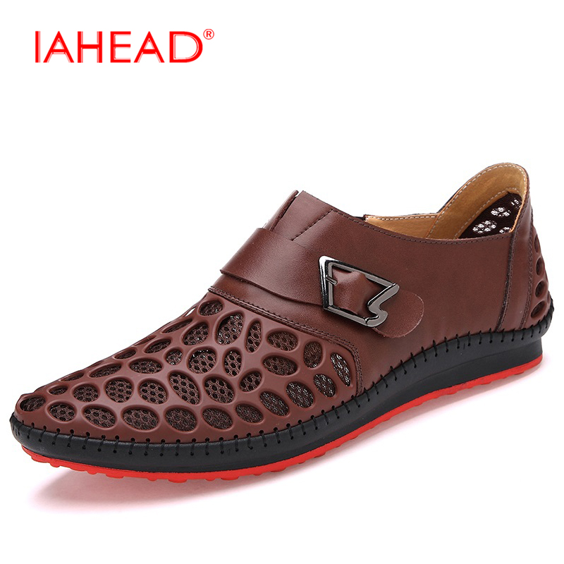 2017 Mens Luxury Brand Summer Leisure Breathing Flats For Men Shoes Casual Genuine Leather Shoes Size 38-44 MS988<br>