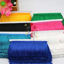 10 meters/lot  Hot Sale 9CM Long Polyester Tassel Fringe Lace Trim For DIY Latin Dress Stage Clothes Accessories Lace Trimming