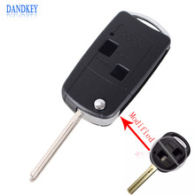 Dandkey Flip Folding Remote Car Key Case Shell 2 Buttons Fob For LEXUS IS200 IS300 LS400 LS430 New(China)