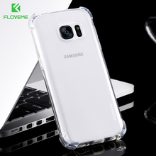 FLOVEME 3D Shockproof Thick Ultra Thin Phone Cases Cover for Samsung S7 S7 Edge Case Silicone Case for Samsung S7 S7 Edge(China)