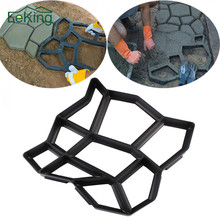 Artificial DIY Garden Stone Road Walk Maker Mould Pavement Plastic Concrete Mold Manually Paving Cement Brick Patio Path Moldes(China)