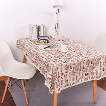Useful Rectangle Tablecloth Banquet Xmas Wedding Party Home Decor Cotton Linen Print Christmas Tree Table Cloth Cover