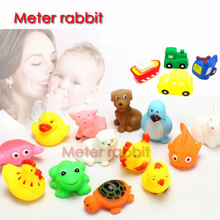 Rubber Duck soft Baby Squeaky Pool Float For Children kids Latex Yellow Duck Squeeze-sounding Dabbling Water Bath Bathtub Toy