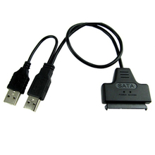"Etmakit Brand New USB 2.0 to SATA Serial ATA 15+7 22P Adapter Cable For 2.5"" HDD Laptop Hard Drive(China)"