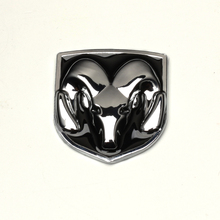 Black Head Grill Tailgate Emblem Badge Sticker Decal For Dodge Ram Chromed Metal
