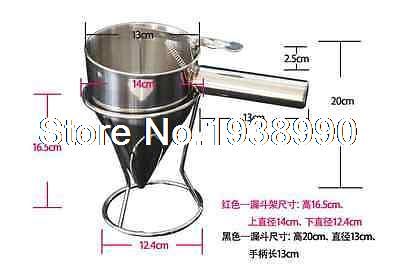 New Stainless Steel Conical Funnel with shelf Octopus Fish balls Tool<br><br>Aliexpress