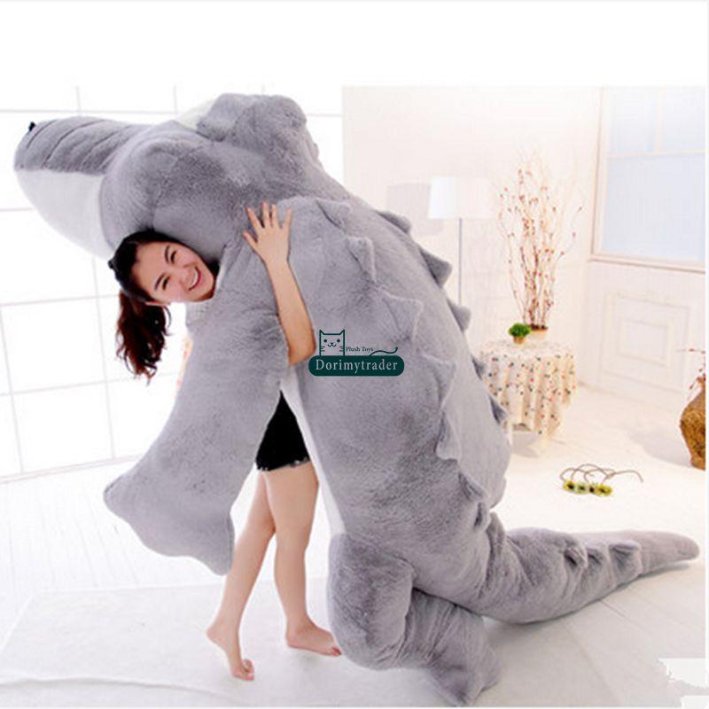 Dorimytrader Biggest 118\`\` 300cm Jumbo Crocodile Toy Plush Soft Stuffed alligator Sofa Tatami Free Shipping DY61038 (2)