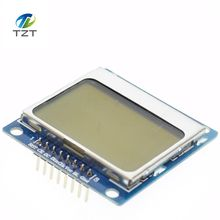 5pcs blue 84X48 Nokia 5110 LCD Module with blue backlight with adapter PCB for Arduino ,freeshipping