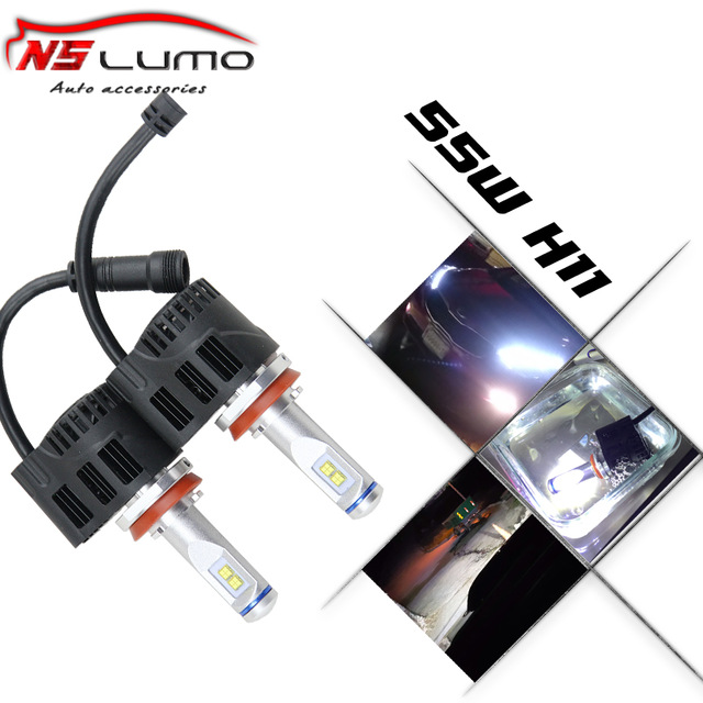 2PCS* 55W/bulb 5200LM Auto parking LED H11 Car Headlights Lamp 3000-6000K Aluminum Alloy Waterproof Led headlight H11 DC12-24V<br><br>Aliexpress