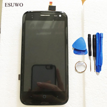 ESUWO LCD Display Assembly For ZTE Blade Q Lux Qlux 4G 3G Touch Screen LCD Display Screen Digitizer Sensor With Frame +Tools
