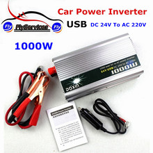 New Arrival 1000 Watt Car Power Inverter 1000W DC 24V to AC 220V Car Battery Charger Universal With USB Port
