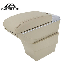 Car Armrest Case For Skoda Octavia A7 Active 2016-current Armrest Central Store Content Storage Box With Cup Holder Ashtray(China)