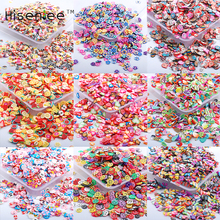 Hisenlee New 1000pcs/pack 10g 3D Nail Art Fruit Flower Animal Polymer Clay DIY Slice Decoration Nail Sticker 10 kinds of options(China)