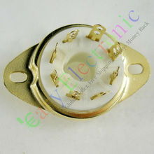 Wholesale and retail 4pc Gilded 8pin Ceramic vacuum tube socket top mount valve Fr VP41 SP4 audio amp free shipping