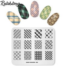 Buy Rolabling 5 Designs Fashion Nail Stamping Plates DIY Nail Art Stamping Polish Template Image Plate Stencil Nail Stamp Template for $2.99 in AliExpress store