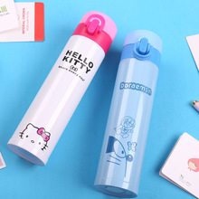 2017 new cute cartoon HELLO KITTY jingle cat bouncing cover children's lady cup Vacuum Flasks & Thermoses free shipping
