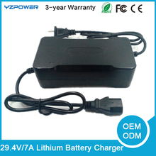 YZPOWER 29.4V 2A/3A/4A/5A/7A Lithium type electric and use nimh battery pack 7 X 3.6 v 7 X 3.7V Li-on Li-po battery charger