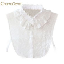 Chamsgend Detachable Collar Newly Design Hot! Women White Lace Flower Fake Shirt Collar Necklace Choker Collar 160120