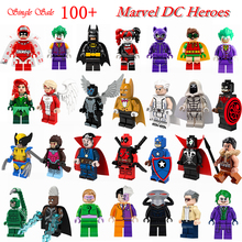 Single Batman Series Marvel DC Super Heroes DIY Figures Avengers Superman Deaepool Building Blocks Model Bricks Toys