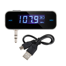 3.5mm Car Wireless Music FM Radio MP3 Transmitter For Android/iPod/iPad/iPhone 4 4S 5 5S 6/Galaxy S2 S3/HTC -1 Free Shipping