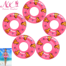 NK 2017 New 5 Pcs Swimming Buoy Lifebelt Ring For  Barbie Doll Accessories For Monster toys dolls,Baby Toys best Gift