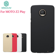 For Motorola Moto Z2 Play Case Nillkin Case For Motorola Moto Z2 Play Hight Quality Super Frosted Shield Cover +Screen Protector(China)