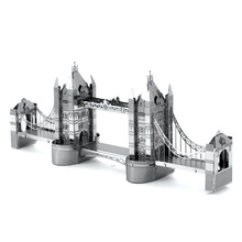 London Tower Bridge 3D Metal Puzzle DIY Kids Toys Tower Model International Architecture Assembly Jigsaw Puzzle