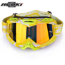 NENKI Motocross Goggles Cross Country Skis Snowboard ATV Mask Oculos Gafas Motocross Motorcycle Helmet 1016YL MX Goggles Glasses