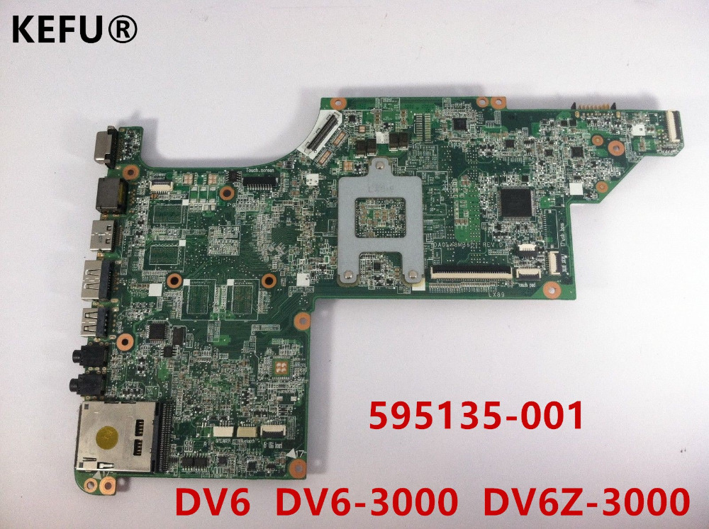 KEFU 595135-001 suitable for hp DV6-3000 laptop motherboard DV6Z-3200 PC system board DA0LX8MB6D1