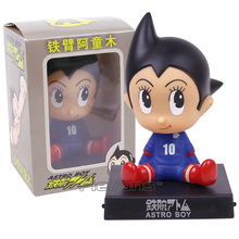 Anime Cartoon Astro Boy Bobble Head Dolls PVC Action Figures Collectible Model Toys 13cm 2 Styles(China)