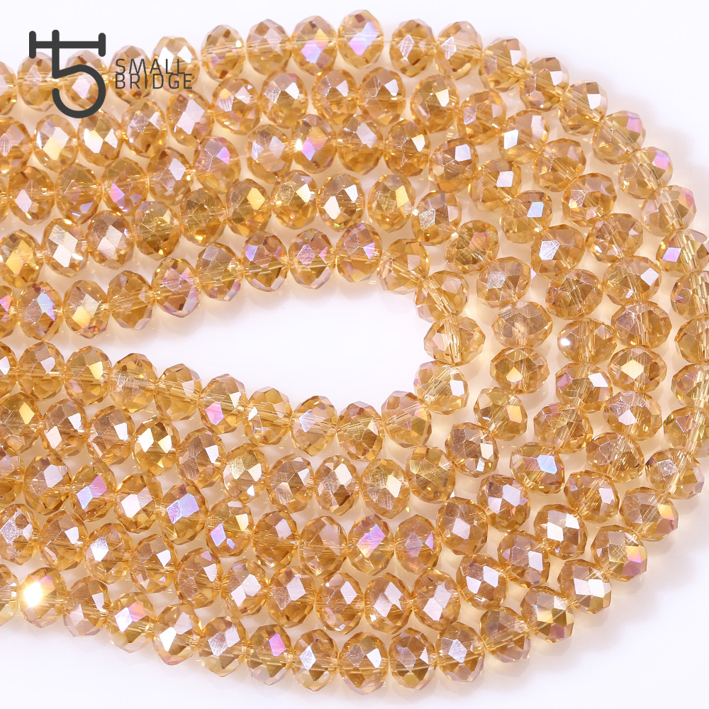 Rondelle Faceted Beads (4)