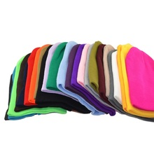 20 Candy Colors Unisex Crochet Hat Women Men Hip Hop Beanies Skullies Cap Spring Autumn Winter Hats Fashion Cotton Knitted Hat