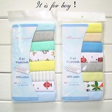 8Pc Baby Infant Newborn Towel Washcloth Bathing Feeding Wipe baby handkerchief face small towels(China)