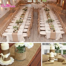 Vintage Table Runner 10m x 33cm High Quality Burlap Roll for Wedding Banquet Table Decoration Event Party Supplies