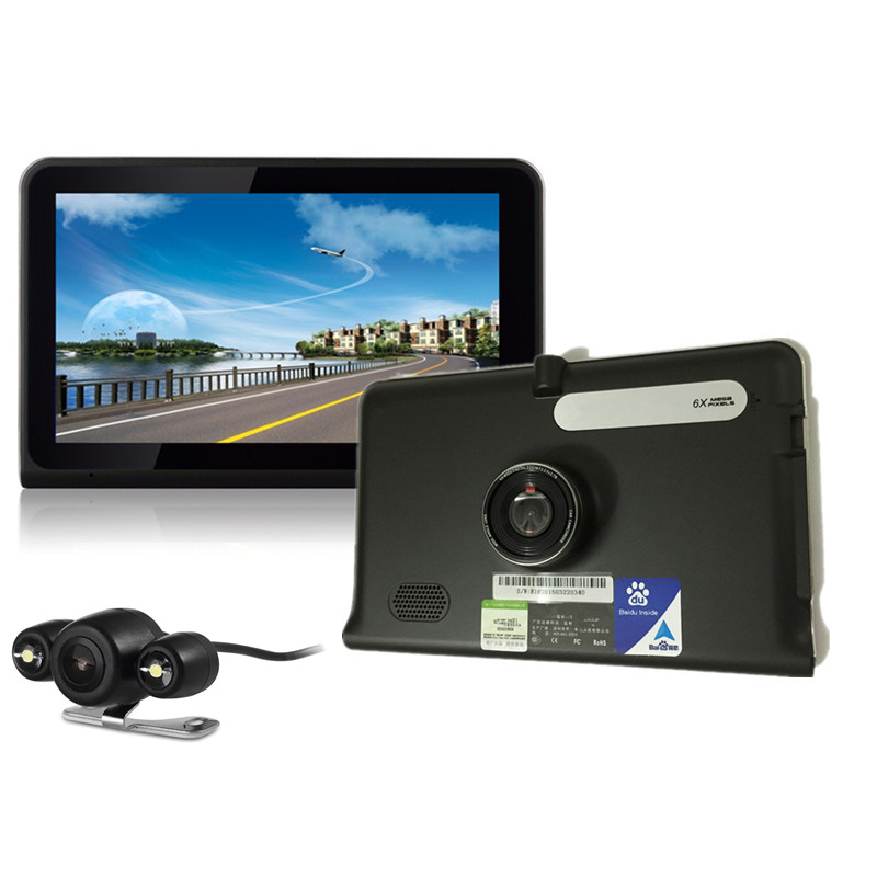 7 inch GPS Navigation Android WiFi GPS DVR Camcorder AVIN Rear View Camera Parking 16GB Dual Camera WiFi Internet Tablet Style<br><br>Aliexpress