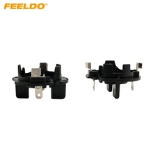 FEELDO 10Pcs Car H7 HID Xenon Beam Bulbs Socket Adapter Holder For VW Jetta/Golf5/GIT/Rabbit/MK5 HID Bulb Adapter(Slit) #AM1329(China)