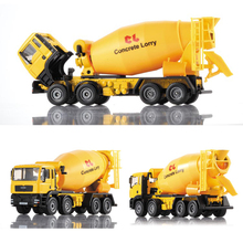 1/50 Scale Cement mixer Truck Model Engineering Truck Alloy model Alloy Car Metal Vehicle Collectible Models toys For Gift