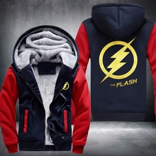 Hot Sale Unisex Thicken Hoodie The Flash Jacket Sweatshirts Coat Top MEN WOMEN Against The Cold Clothing(China)