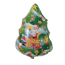 QGQYGAVJ New Arrival Christmas Tree Balloon Helium Inflatable Foil Balloon Party Decoration Birthday Christmas day(China)