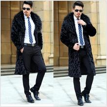 Buy S-5XL NEW winter Men Leather grass imitation mink coat faux fur long coat trench thicken warm plus size clothing singer costumes for $92.65 in AliExpress store