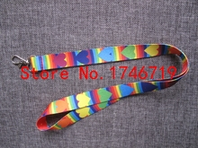 Free Shipping 20 Pcs color love  Mobile Phone Neck Straps  Neck Strap Keys Camera ID Card Lanyard D-3