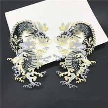 Dragon King Embroidered Patches Iron-on Sewing for Clothes Applique Diy Accessory Suppliers Sticker Lace Neckline collar(China)