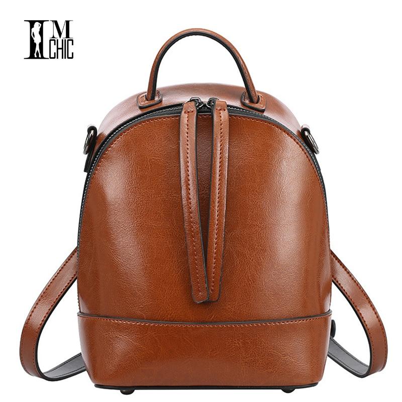 Vintage Oil Wax Split Leather Cowhide Women Backpacks Tassel Design Ladies Travel Backpack School Preppy Stylish Cool Girl 0311<br>